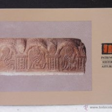 Postales: SAN MIGUEL DE LILLO. BASA HISTORIADA. OVIEDO. PATRIMONIO ARTISTICO ASTURIANO. PRICIPADO DE ASTURIAS.. Lote 44636129