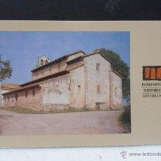 Postales: SAN SALVADOR DE PRIESCA. VILLAVICIOSA. PATRIMONIO ARTISTICO ASTURIANO. PRICIPADO DE ASTURIAS. 1988. . Lote 44636237