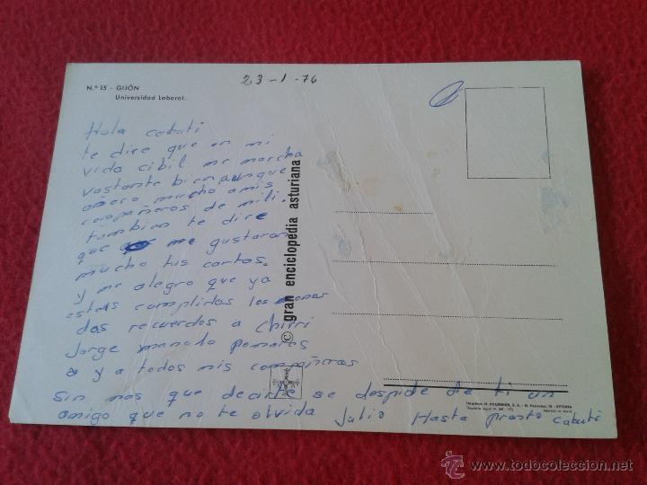 Postales: ANTIGUA POSTAL DE ASTURIAS GIJON Nº 15 UNIVERSIDAD LABORAL FOURNIER GRAN ENCICLOPEDIA ASTURIANA - Foto 2 - 44865813