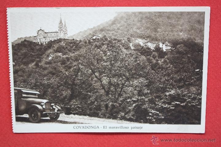 ANTIGUA POSTAL DE COVADONGA. ASTURIAS. EL MARAVILLOSO PAISAJE. HUECOGRABADO MUMBRÚ. SIN CIRCULAR (Postales - España - Asturias Antigua (hasta 1.939))