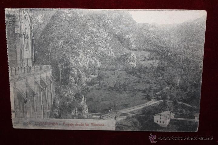 ANTIGUA POSTAL DE COVADONGA. ASTURIAS. PAISAJE DESDE LAS ALMENAS. COLEC. V. ERO. ESCRITA (Postales - España - Asturias Antigua (hasta 1.939))