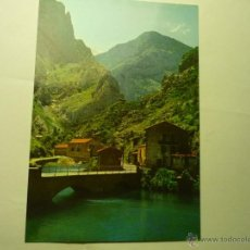 Postales: POSTAL DESFILADERO DEL CARES.EMBALSE Y PARADOR PONCEBOS.-ESCRITA BB. Lote 45620199