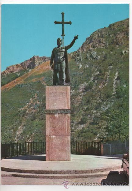 COVADONGA Nº 2018 .- ESTATUA REY DON PELAYO .- EDICIONES ARRIBAS .- SIN CIRCULAR (Postales - España - Asturias Moderna (desde 1.940))