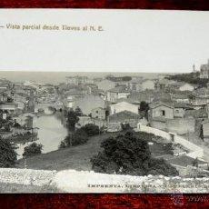 Postales: FOTO POSTAL DE LLANES (ASTURIAS), VISTA PARCIAL DESDE TIEVES AL N. E. IMPRENTA PAPELERIA M. TAMES, . Lote 46090557