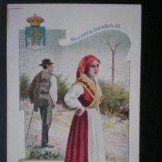 Postales: ASTURIAS OVIEDO MUJERES ESPAÑOLAS POSTAL ANTIGUA. Lote 46118019
