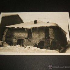 Postales: BUSDONGO ASTURIAS NEVADA POSTAL FOTOGRAFICA CELESTINO COLLADA FOTOGRAFO OVIEDO AÑOS 20 RARA. Lote 46212871