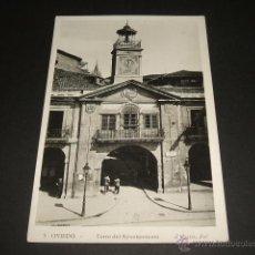 Postales: OVIEDO ASTURIAS TORRE DEL AYUNTAMIENTO. Lote 46226173