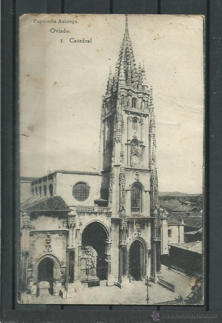 Postal antigua de oviedo la catedral circulad comprar - Puertas interior asturias ...