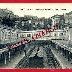 Postales: POSTAL ASTURIAS , OVIEDO , ESTACION FERROCARRIL VASCO ASTURIANO , ORIGINAL , P97145. Lote 46406041