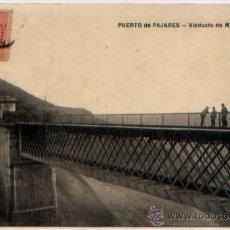 Postales: POSTAL PUERTO DE PAJARES TREN VIADUCTO DE MATARREDONDA ASTURIAS ED. M.G. Lote 46448176