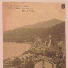 Postales: SAN ESTEBAN DE PRAVIA. VISTA GENERAL. 1949. HAUSER Y MENET. REVERSO SIN DIVIDIR.. Lote 46606047