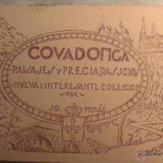 Postales: COVADONGA (ASTURIAS) BLOCK CUADERNILLO PAISAJES Y PRECIADAS JOYAS DE JG MERAS, OVIEDO, 20 POSTALES.. Lote 46620778