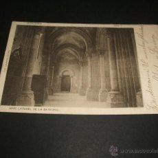 Postales: COVADONGA ASTURIAS NAVE LATERAL DE LA CATEDRAL FOTO LAURENT. Nº 3 REVERSO SIN DIVIDIR. Lote 46919224