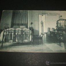 Postales: OVIEDO ASTURIAS HOTEL COVADONGA UNA HABITACION. Lote 46919321