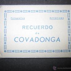 Postales: COVADONGA - MINI POSTALES - BLOCK DE 8 MINIPOSTALES -- MIDEN 5,5 X 8 CM.- ARRIBAS - (V- 1696). Lote 47109875