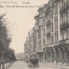 Postais: Nº 23079 POSTAL OVIEDO CALLE DEL MARQUES DE SANTA CRUZ HAUSER Y MENET PAPELERIA ASTORGA. Lote 47302725