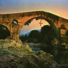 Postales: CANGAS DE ONIS (ASTURIAS) - PUENTE ROMANO, ATARDECER - NO ESCRITA NI CIRCULADA. Lote 47524820