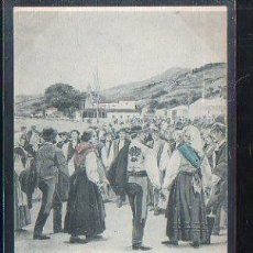 Postales: TARJETA POSTAL DE ASTURIAS - BAILES ESPAÑOLES. LA DANZA PRIMA. 569. HAUSER Y MENET. 1900. VER DORSO. Lote 48641385