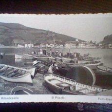 Postales: PUERTO RIBADESELLA Nº 18 FOTO HEVIA S/C *B35. Lote 48700214