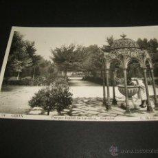 Postales: GIJON ASTURIAS PARQUE DE ISABEL LA CATOLICA SURTIDOR. Lote 48727830