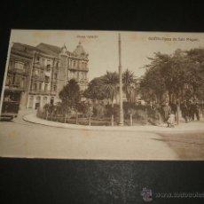 Postales: GIJON ASTURIAS PLAZA DE SAN MIGUEL TRANVIA. Lote 48743855