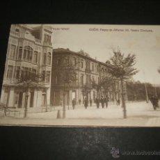 Postales: GIJON ASTURIAS PASEO DE ALFONSO XII TEATRO DINDURRA. Lote 48743870