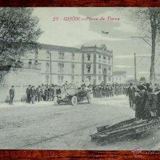 Postales: POSTAL DE GIJON (ASTURIAS) PLAZA DE TOROS, 25 F. MATOS, SIN CIRCULAR. Lote 49014949