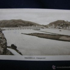 Postales: POSTAL RIBADESELLA ASTURIAS VISTA GENERAL EDICIONES M. ARRIBAS ZARAGOZA CIRCULADA 1952. Lote 49128998