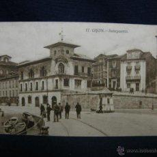 Postales: POSTAL 17 GIJON ANTEPUERTO GRAFOS MADRID CIRCULADA 1928. Lote 49129178