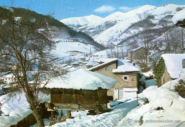 Asturias paisaje nevado no escrita ni circu comprar - Paisajes nevados para pintar ...