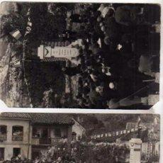 Postales: LOTE DE 2 FOTOGRAFIAS. PEÑAMELLERA BAJA. PANES. INAUGURACION DEL MONUMENTO D. ANGEL L. CUESTA 1935.. Lote 49736560