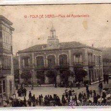 Postales: POLA DE SIERO. 10. PLAZA DEL AYUNTAMIENTO. EDITOR S. GUTIERREZ. CIRCULADA.. Lote 49737370