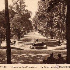 Postales: OVIEDO - CAMPO DE SAN FRANCISCO - HUECOGRABADO MUMBRU - NO ESCRITA NI CIRCULADA. Lote 51061093