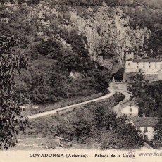 Postales: COVADONGA - PAISAJE DE LA CUEVA - NO ESCRITA NI CIRCULADA. Lote 51061189