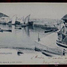 Postales: PUERTO DE CUDILLERO, COLECCION ASTURIAS, SERIE A, 4, FOT. VILLEGAS, ESCRITA Y SIN CIRCULAR. Lote 51241561