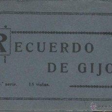 Postales: ÁLBUM POSTAL. RECUERDO DE GIJÓN. 4ª SERIE. ED. GRAFOS-MADRID. 15 POSTALES.. Lote 51518110