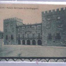 Postales: TARJETA POSTAL DE GIJON, ASTURIAS - PALACIO DEL CONDE DE REVILLAGIGEDO. GRAFOS. Lote 51705214