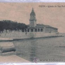 Postales: TARJETA POSTAL DE GIJON, ASTURIAS - IGLEISA DE SAN PEDRO. GRAFOS. Lote 51705222