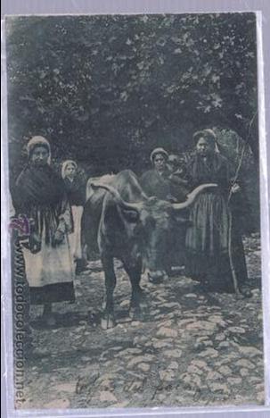 TARJETA POSTAL DE GIJON, ASTURIAS - TIPOS DEL PAIS. GRAFOS (Postales - España - Asturias Moderna (desde 1.940))