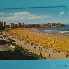 Postales: PLAYA DE SAN LORENZO Y AVDA. DE RUFO RENDUELES. Lote 52143913