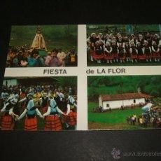 Postales: PIEDRACEDA LENA ASTURIAS FIESTA DE LA FLOR. Lote 52341002