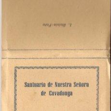 Postales: POSTAL, SANTUARIO DE NUESTRA SEÑORA DE COVADONGA, TIRA CON 16 FOTOGRAFIAS, 6X9. Lote 52377757