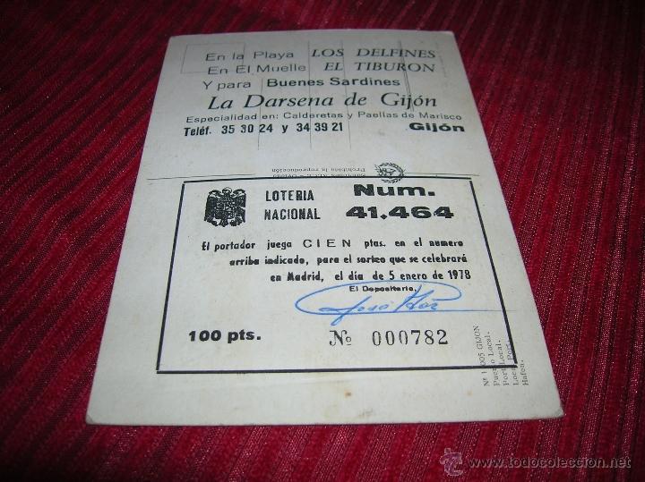 Postales: Postal de Gijón Puerto local .Anuncia Bar Los delfines - Foto 2 - 52423481