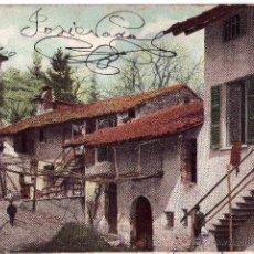 Postales: ANTIGUA POSTAL, AÑO 1909 CASA RUSTICA TICINESE,DE NOREÑA, ASTURIAS, SELLO REY ALFONSO XIII. Lote 52609957
