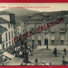 Postales: POSTAL ASTURIAS , NAVIA , MERCADO Y CASA QUE VIVIO EL GRAN CAMPOAMOR ,ORIGINAL , P82689. Lote 52866822