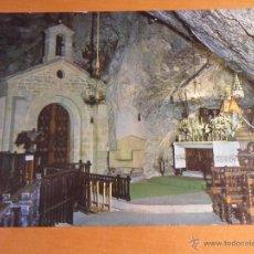 Postales: COVADONGA. CAPILLA DE LA CUEVA. ASTURIAS. POSTAL ESCRITA Y SELLADA. AÑOS 70.. Lote 52888254