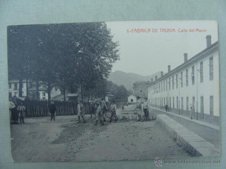 FABRICA DE TRUBIA. CALLE DEL MONTE. EDICIONES FEDRIANI HERMANAS. FOTOTIPIA THOMAS (Postales - España - Asturias Antigua (hasta 1.939))