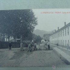 Postales: FABRICA DE TRUBIA. CALLE DEL MONTE. EDICIONES FEDRIANI HERMANAS. FOTOTIPIA THOMAS. Lote 53302842