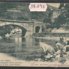 Postales: CANGAS DE TINEO - LAVANDERAS EN EL NARCEA - SERIE B Nº 6 FOT· VILLEGAS - REVERSO SIN DIVIDIR (39393). Lote 53303486