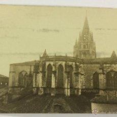 Postales: OVIEDO. ABSIDE CATEDRAL BASILICA. POSTAL FOTOGRÁFICA (CELESTINO COLLADA). CIRCULADA EN 1924.. Lote 53611017